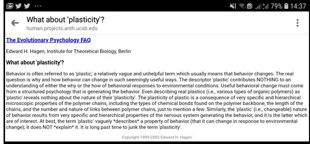 extrait plasticité